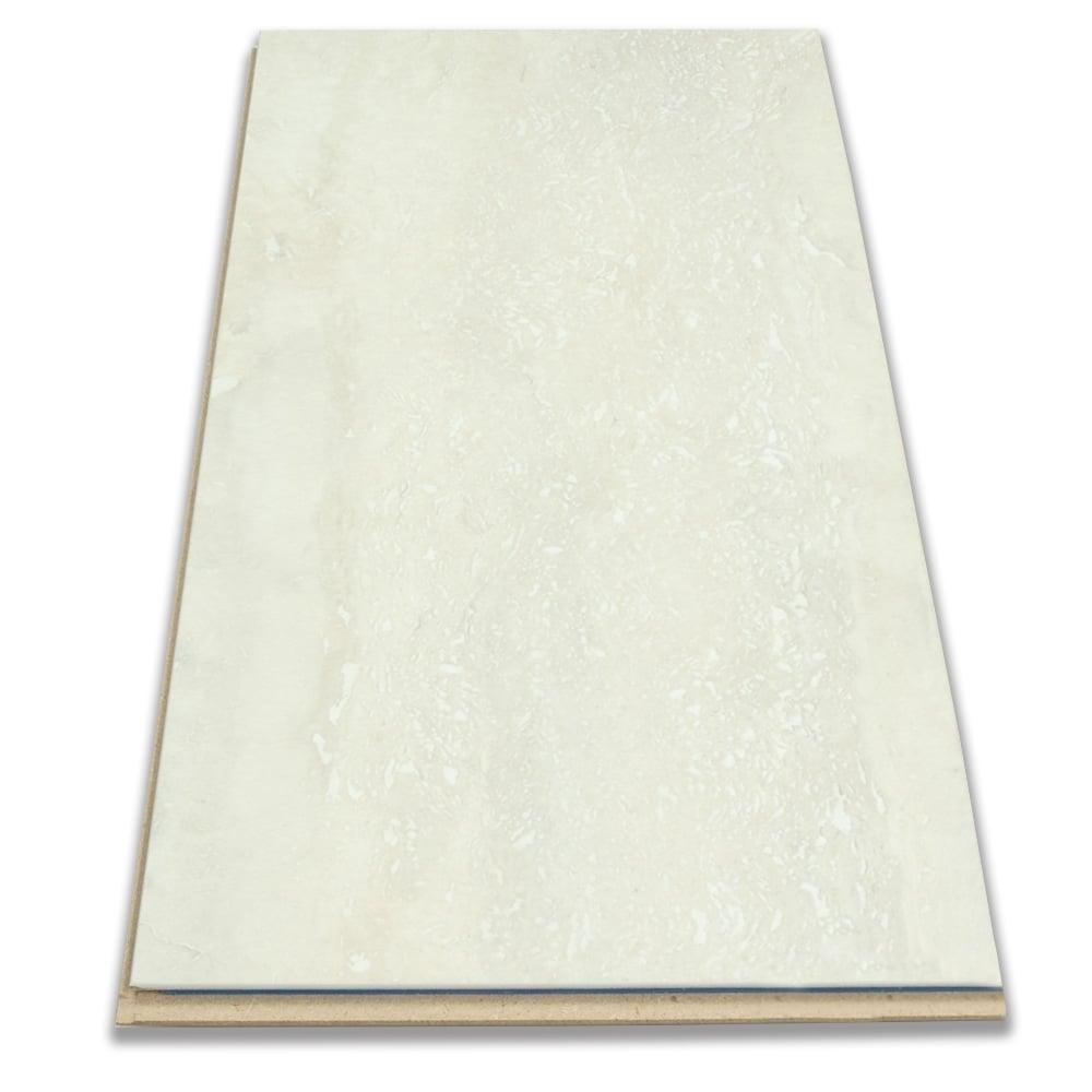 8mm Tile Effect Laminate Flooring White, Black Travertine Laminate Flooring