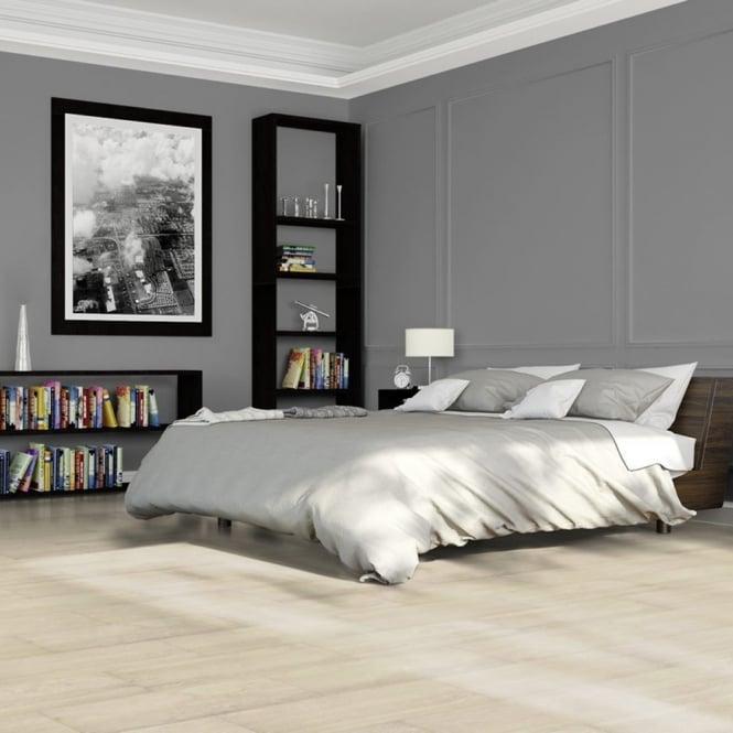 Elite Stone - 8mm Tile Effect Laminate Flooring - White Travertine