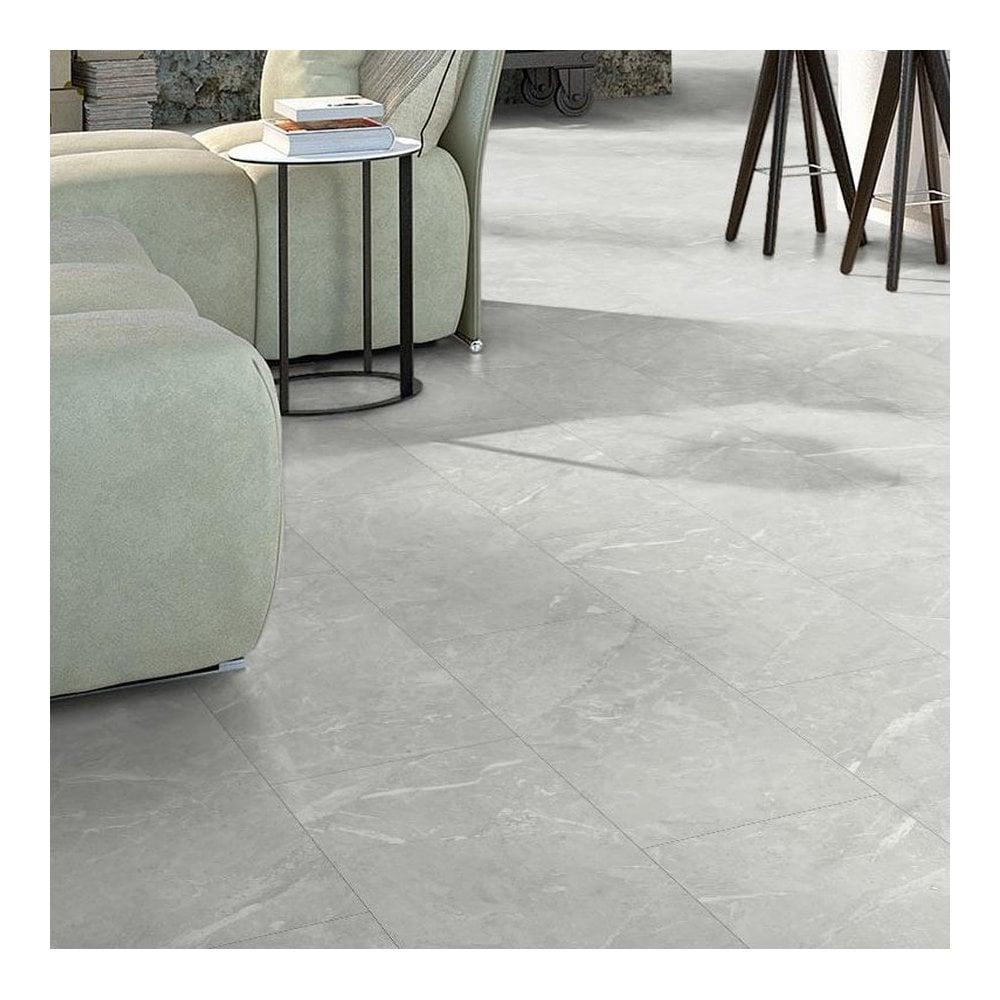 Elite Stone 8mm Tile Effect Laminate, Light Stone Laminate Flooring