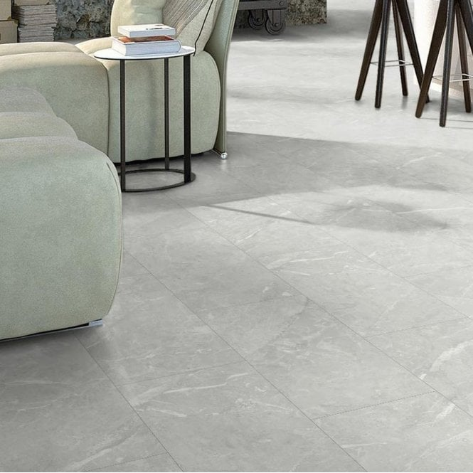 Elite Stone - 8mm Tile Effect Laminate - White Granite
