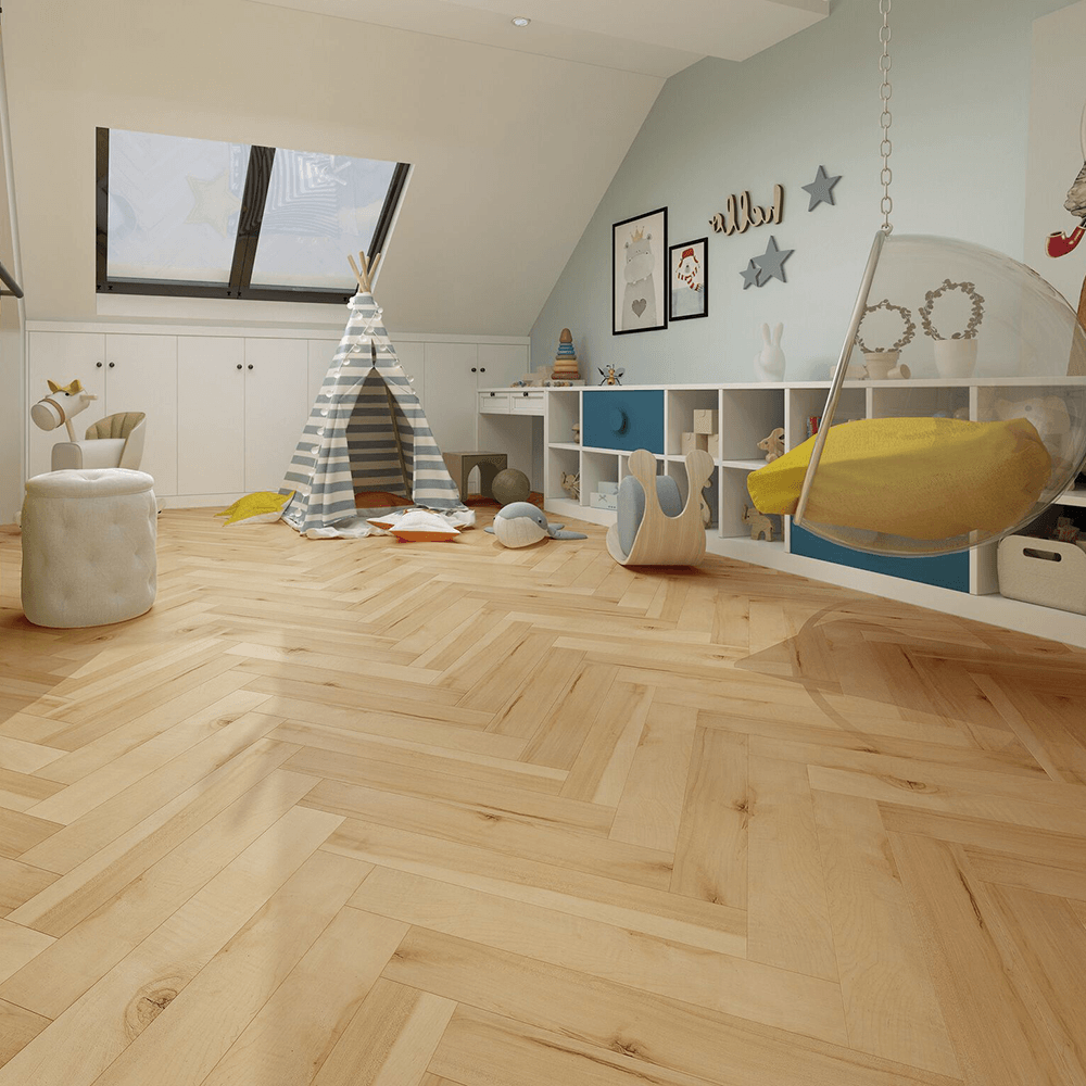 Emperor 12mm Laminate Flooring Bleached Herringbone