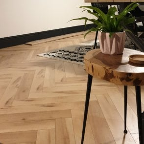 Emperor - 12mm Laminate Flooring - Bleached Herringbone Oak