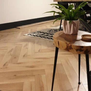 Emperor - 12mm Laminate Flooring - Bleached Herringbone Oak