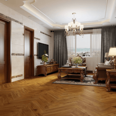 Emperor - 12mm Laminate Flooring - Golden Walnut Herringbone Oak