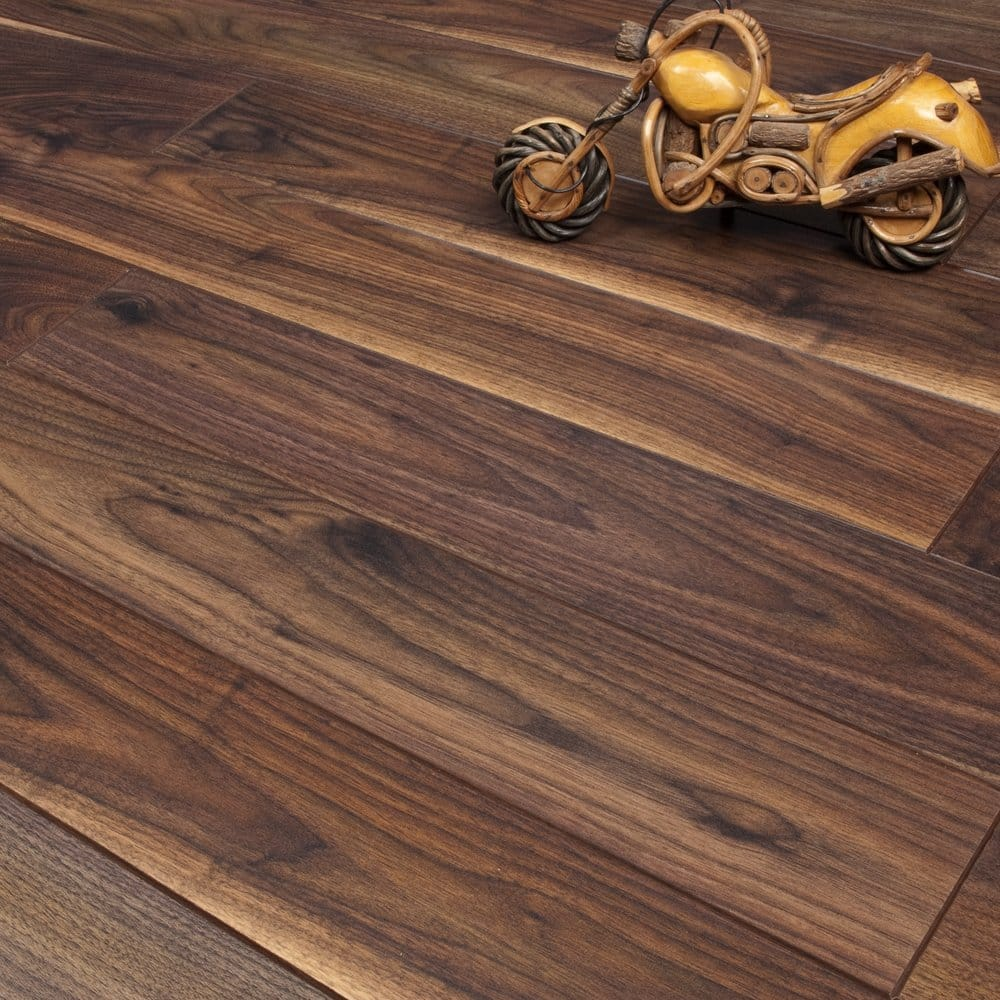Emperor tropical walnut 12mm x 134mm v groove ac4 for Laminate flooring sale