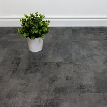 Endura - Rigid Click Vinyl LVT - Tile Effect - Castle Stone