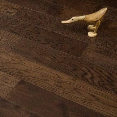 Essential Coffee Engineered Oak Flooring 12/2mm x 125mm Lacquered 1.8m2