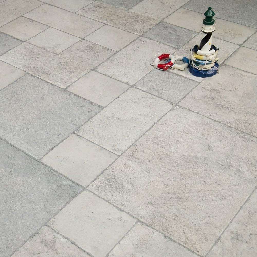 Executive - 8mm Tile Effect Laminate Flooring - Grey Slate - 2.32m2 ...