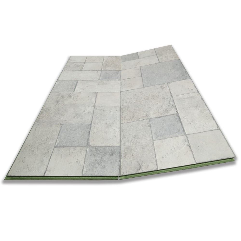 Executive - 8mm Tile Effect Laminate Flooring - Grey Slate - 2.32m2 ...