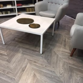 Executive Grey Herringbone Multi Smoked Parquet Laminate 12mm 1.39m2