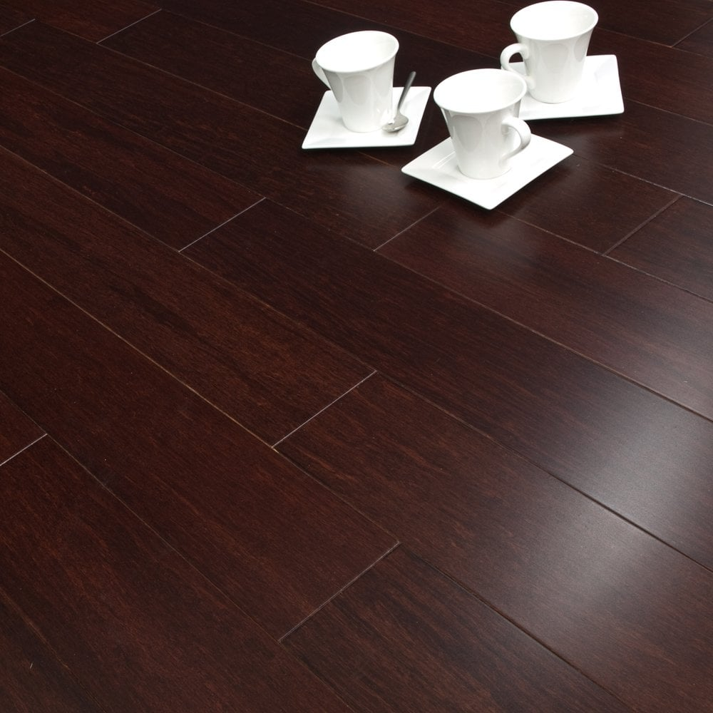 Exotic 14mm Solid Wood Flooring Bamboo Dark Brown