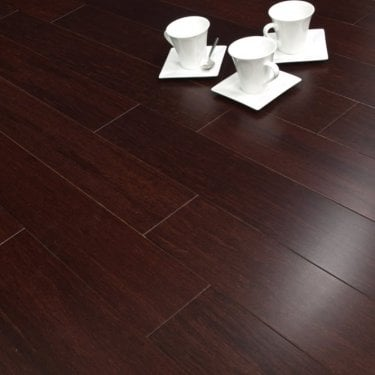 Exotic - 14mm Solid Wood Flooring - Bamboo Dark Brown Lacquered