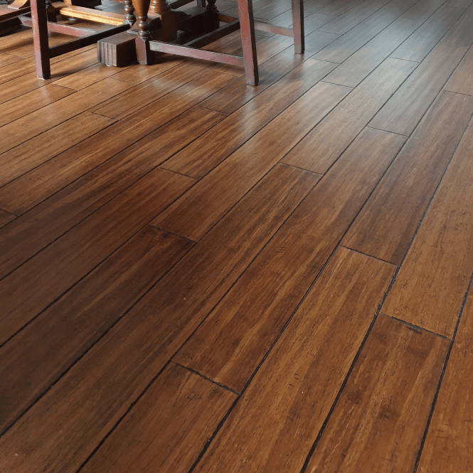 Exotic - 14mm Solid Wood Flooring - Bamboo Hand Scraped Antique Lacquered