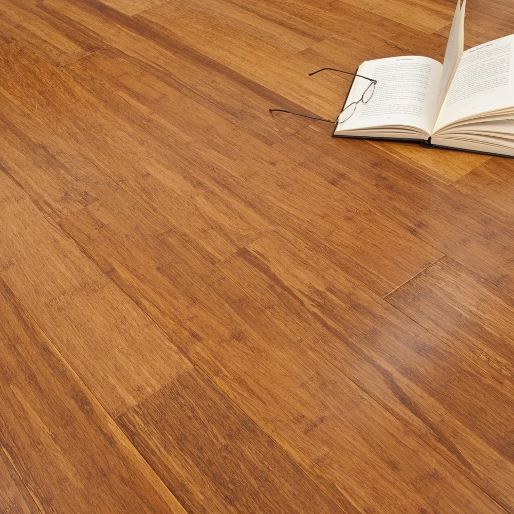 Exotic indulgence click bamboo antique lacquered 14mm x for Cheap solid wood flooring