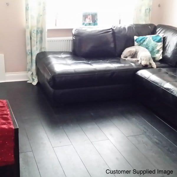 Fairmount nightshade 9mm laminate flooring for Balterio carbon black laminate flooring