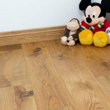 Gold Series - 18mm Solid Oak - Brushed & Lacquered