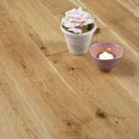 Gold Series Solid Oak Flooring 18mm x 120mm Brushed and Lacquered 1.152m2