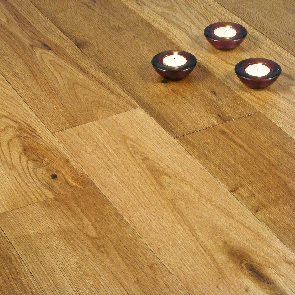 Gold series solid oak 120mm brushed and oiled solid wood for Solid oak wood flooring