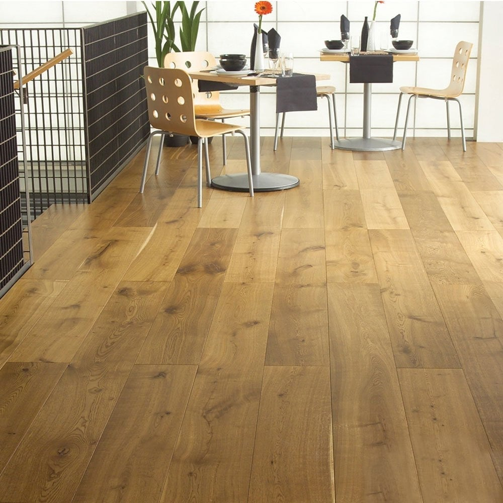 Gold Series Solid Oak Flooring 18mm X 120mm Brushed And