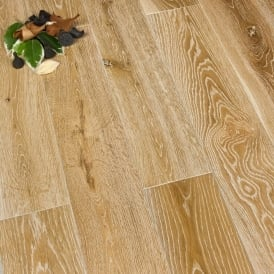 Gold Series Solid Oak Brushed And White 120mm Hard Wood