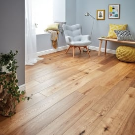 Gold Series Solid Oak Flooring 18mm x 150mm Brushed and Oiled 1.98m2