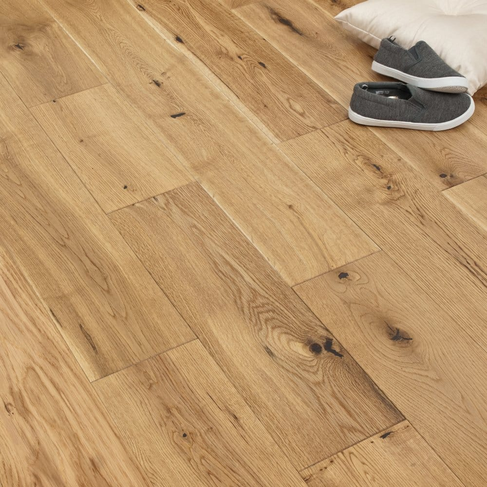 Gold series oak lacquered 150mm wood flooring for Solid oak wood flooring