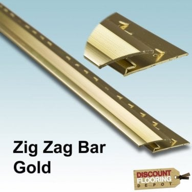 Gold Zig Zag Bar 0.9m (3FT) 8mm