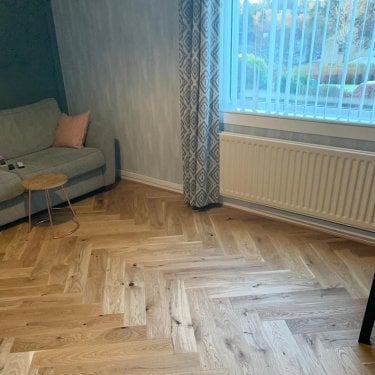 Hampton Herringbone - 14mm Parquet Engineered Flooring - Oak Brushed Natural Oiled