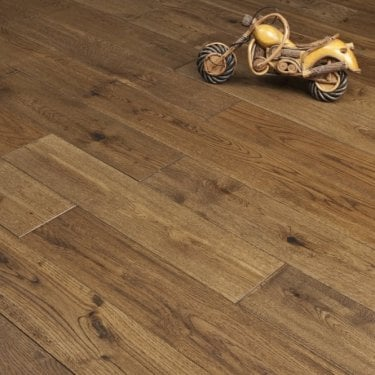 Hillwood - 18mm x 125mm Engineered Wood Flooring - Brandy Hand Scraped