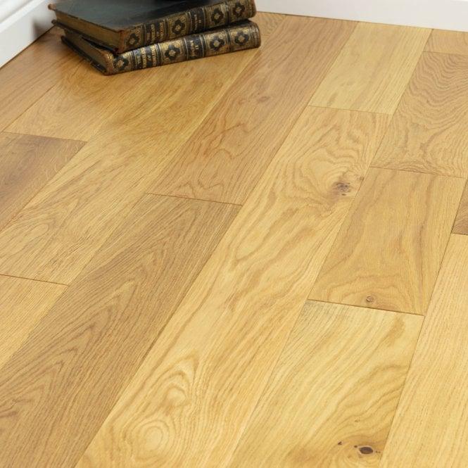 Hillwood - 18mm x 125mm Engineered Wood Flooring - Oak Lacquered