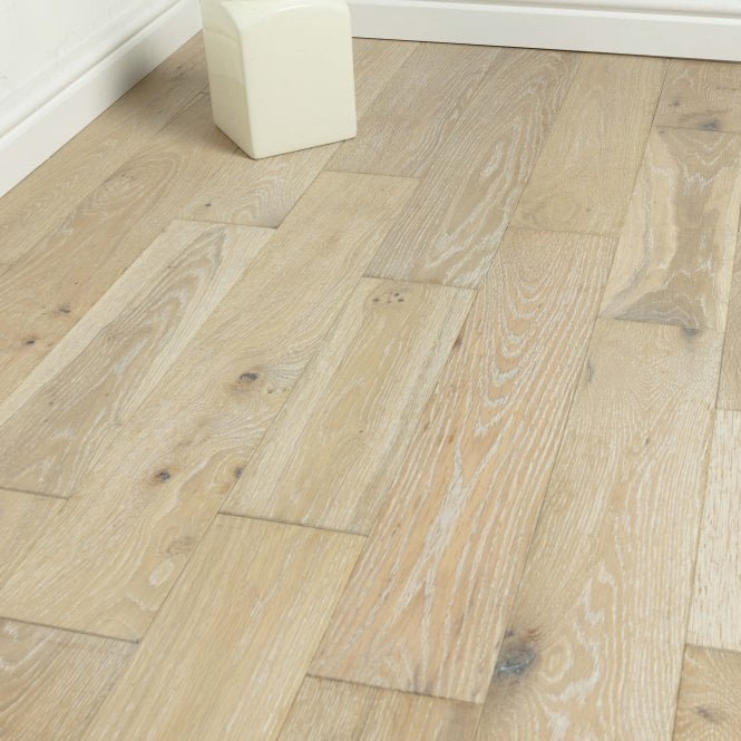 Hillwood - 18mm x 125mm Engineered Wood Flooring - Oak Smoked Brushed and White Oiled