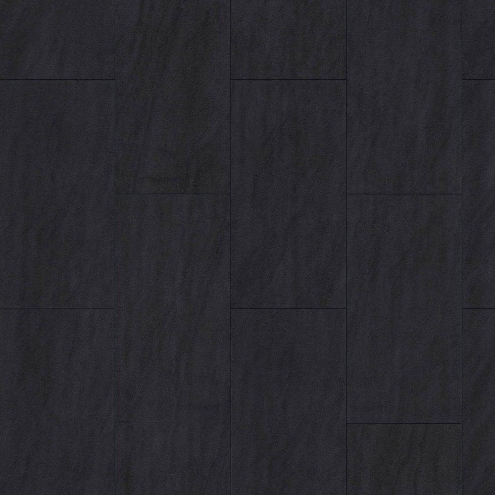Water Resistant Black Tile Laminate, Matte Black Laminate Flooring