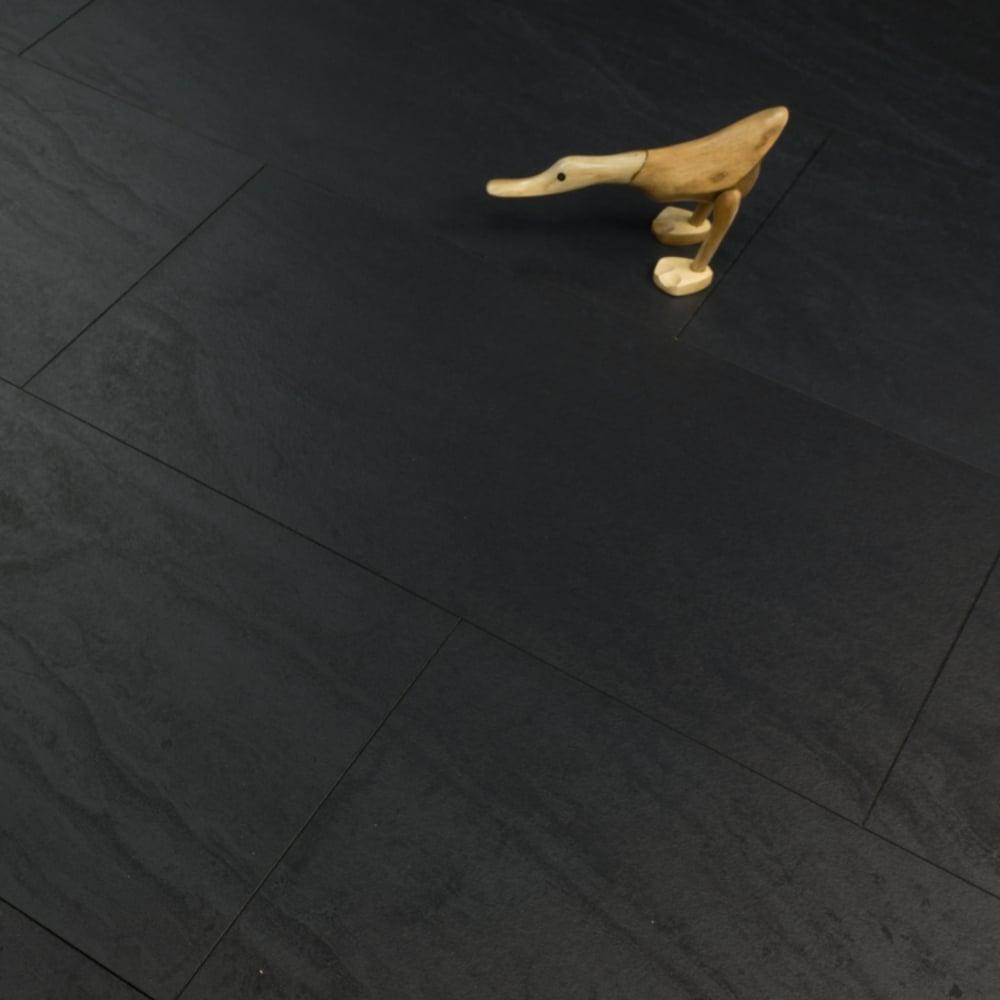 Water Resistant Black Tile Laminate, Waterproof Laminate Flooring In Bathroom