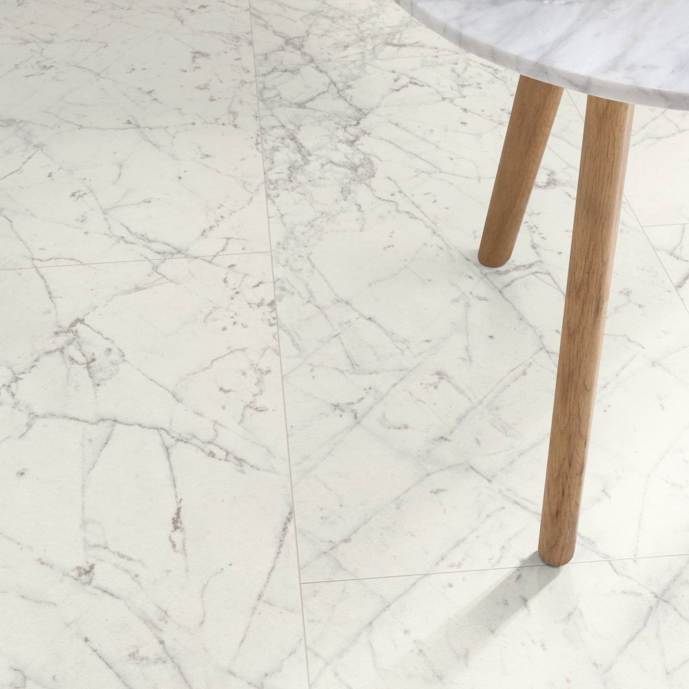 Ed Marble Effect Water Resistant, White Marble Laminate Flooring
