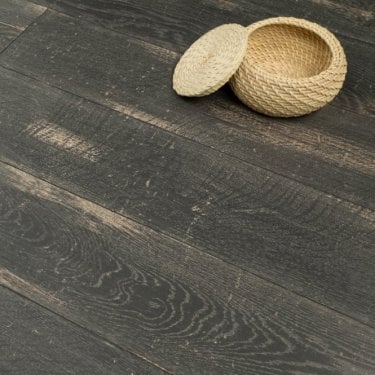 Hydro Guard - 8mm Waterproof Laminate Flooring - Black Distressed Wood