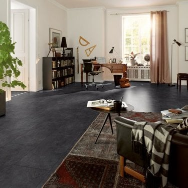 Hydro Guard - 8mm Waterproof Laminate Flooring - Black Slate