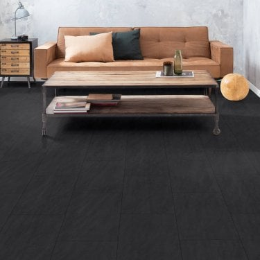 Hydro Guard - 8mm Waterproof Laminate Flooring - Black Tile Effect