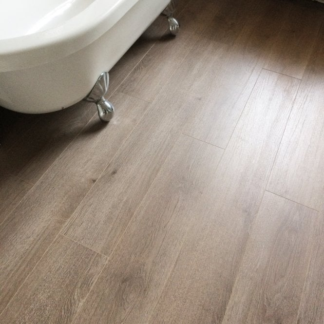 Hydro Guard - 8mm Waterproof Laminate Flooring - Brown Oak