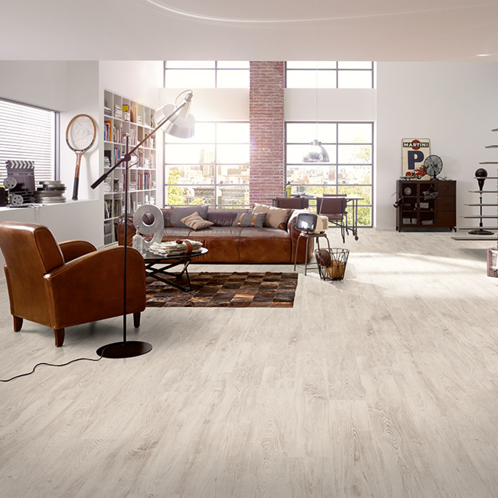 Hydro Guard 8mm Waterproof Laminate Flooring Ice White