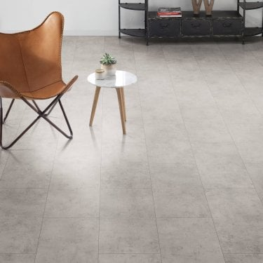 Hydro Guard - 8mm Waterproof Laminate Flooring - Light Concrete