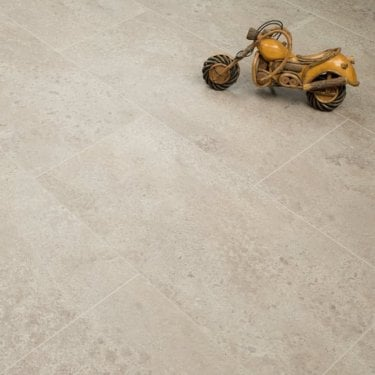 Hydro Guard - 8mm Waterproof Laminate Flooring - Light Stone Grey Tile Effect