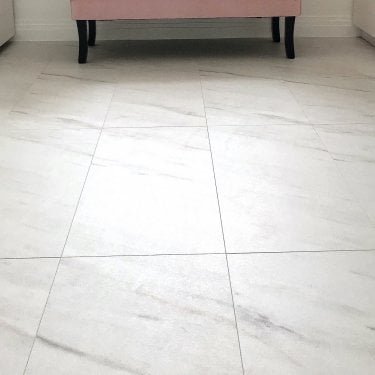 Hydro Guard - 8mm Waterproof Laminate Flooring - White Marble Tile Effect