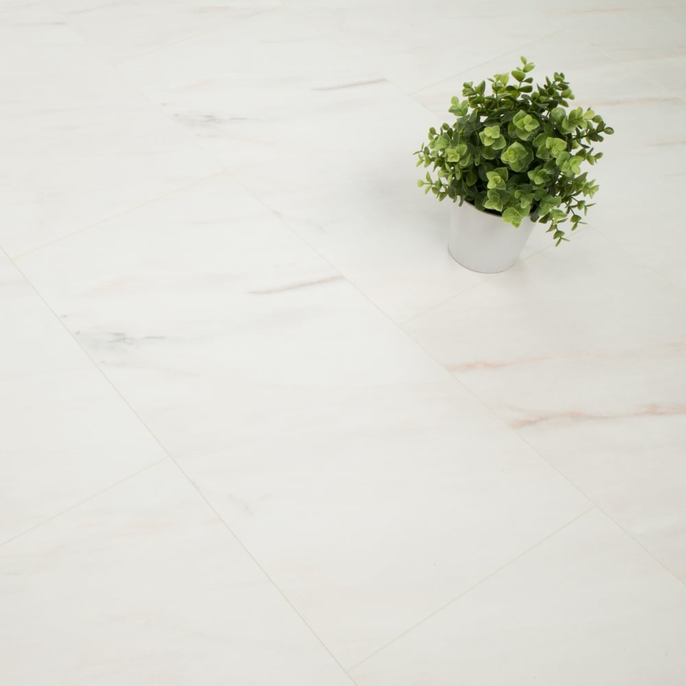 white marble tile flooring. Hydro Guard 8mm White Marble Tile Laminate V-Groove AC4 2.53m2 Flooring E