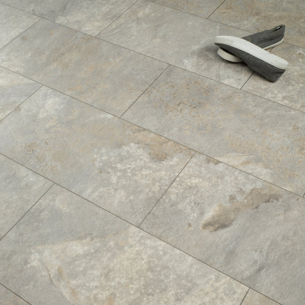 Hydro Regenerate 5mm Tile Effect Laminate Flooring Grey Slate