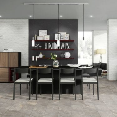 Hydro Regenerate - Tile Effect - Hybrid LVT Flooring - Grey Slate