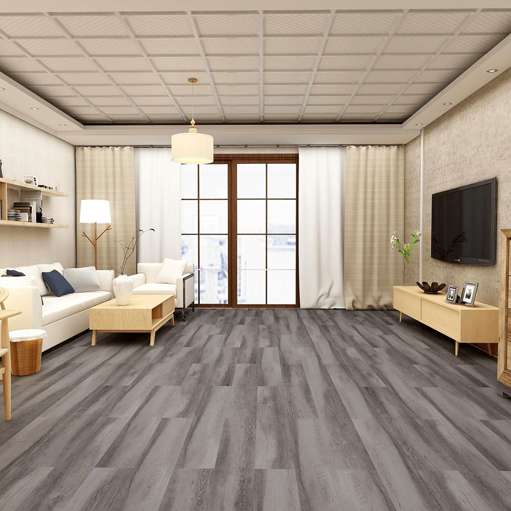 Imperial Wood Effect Dark Grey Oak, Laminate Flooring Dark Grey