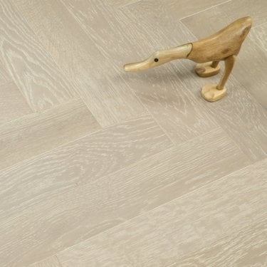 Lakewood Engineered 18/4mm Herringbone Parquet Flooring - Sliver Oak Lacquered