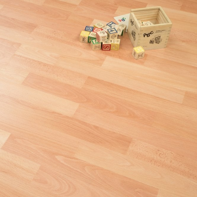 Laminate Flooring Beech: Living - 6mm Laminate Flooring - Beech - 2.73m2