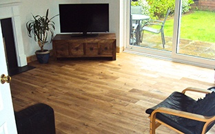 Solid Oak Flooring 18mm x 150mm Brushed and Oiled