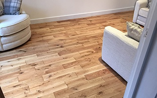Gold Series Solid Oak Flooring 18mm x 120mm Brushed and Lacquered